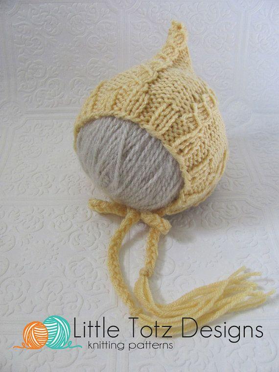 Mock Cable Pixie Bonnet - Knitting Pattern - Newborn - | Stricken ...