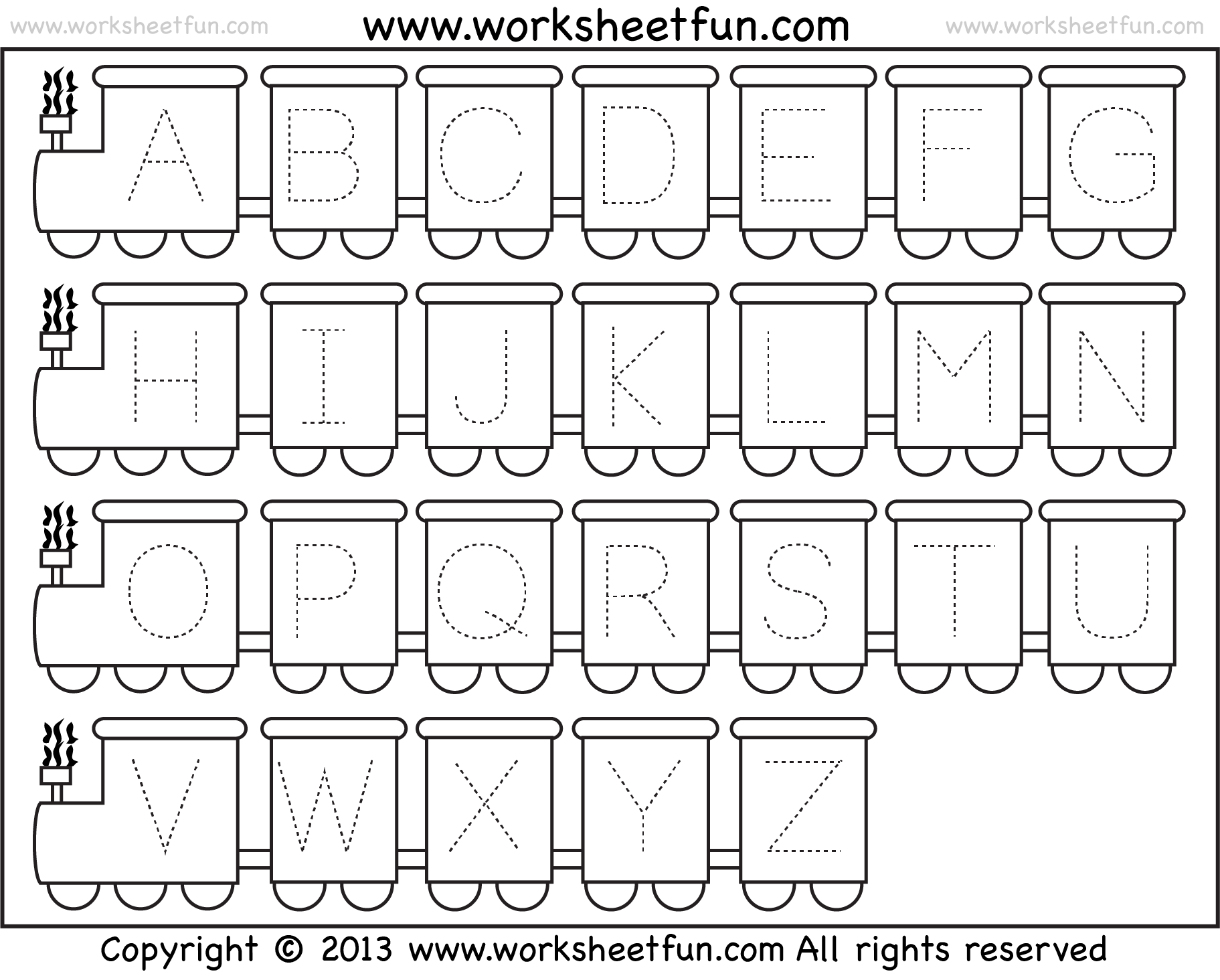 Free Kindergarten Alphabet Worksheets Davezan – Free Alphabet Worksheets for Kindergarten