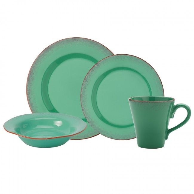 Anchor Home Citrus Turquoise 16pc Dinnerware Set  sc 1 st  Pinterest & Anchor Home Citrus Turquoise 16pc Dinnerware Set | Dream kitchen ...