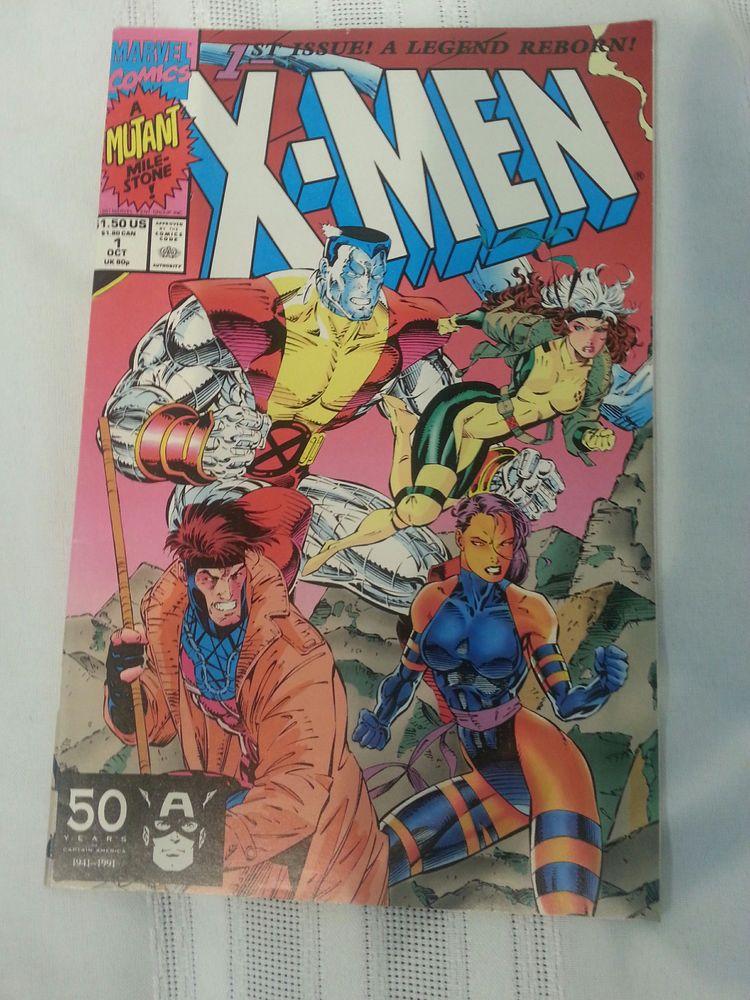 X Men 1b 1st Issue A Legend Reborn Marvel Comics Oct 1991 Colossus Gambit Comics Marvel Comics X Men
