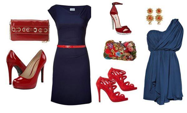 C mo combinar un vestido azul ropa pinterest - Combinar sofa azul oscuro ...