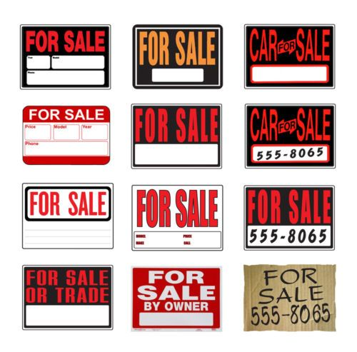 For sale sign on windshield of car \u2014 Stock Photo © belchonock #77455036