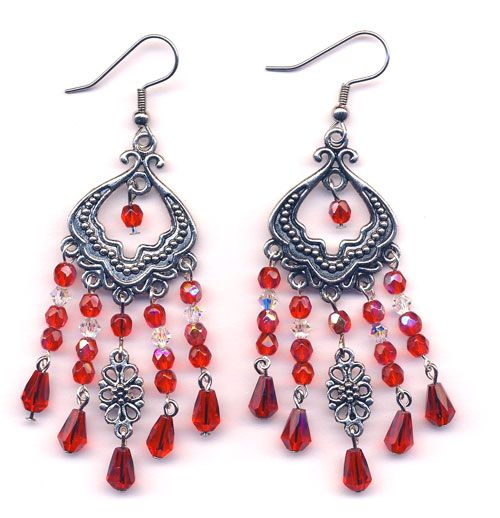 Red Chandelier Earrings | jewelry inspiration | Pinterest | Red ...