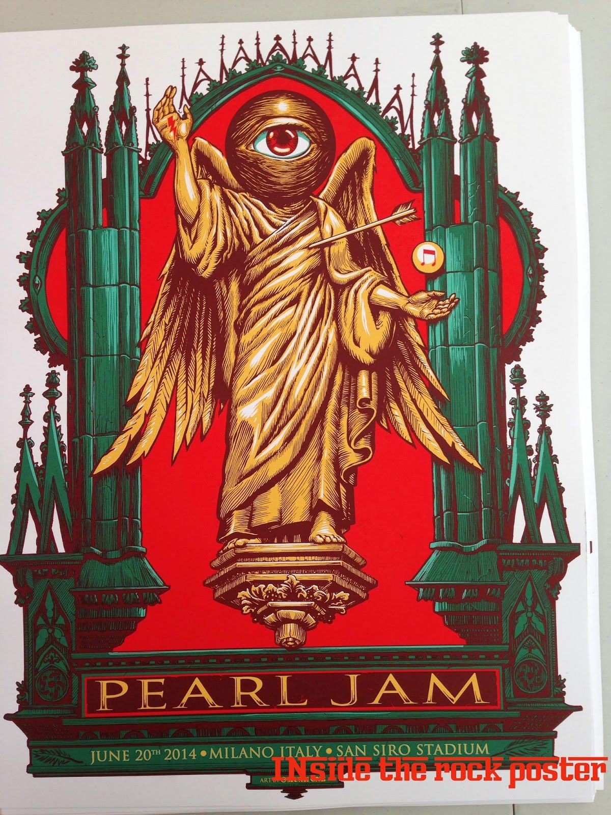 Munk One Pearl Jam Milan Poster Artist Edition On Sale