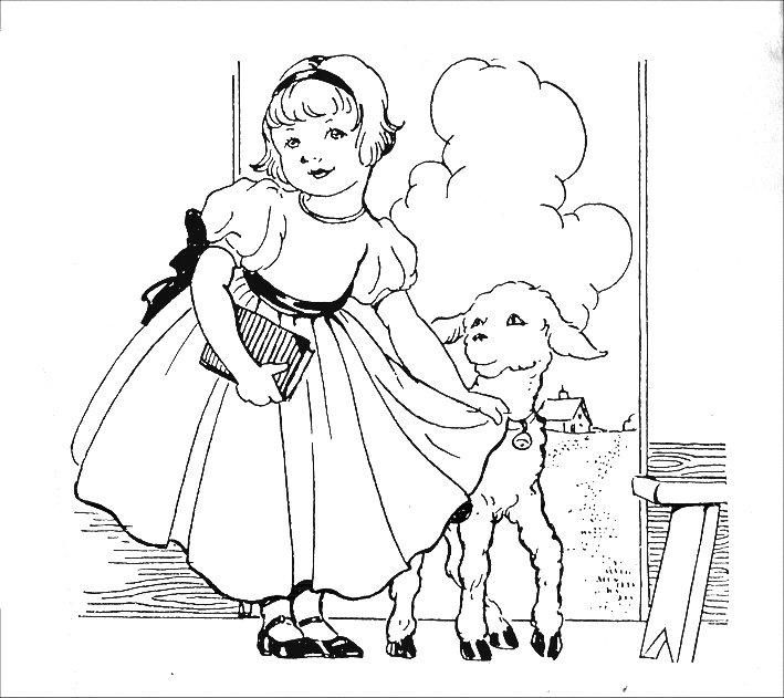 Mary Had A Little Lamb Coloring Pages Google Search Embroidery