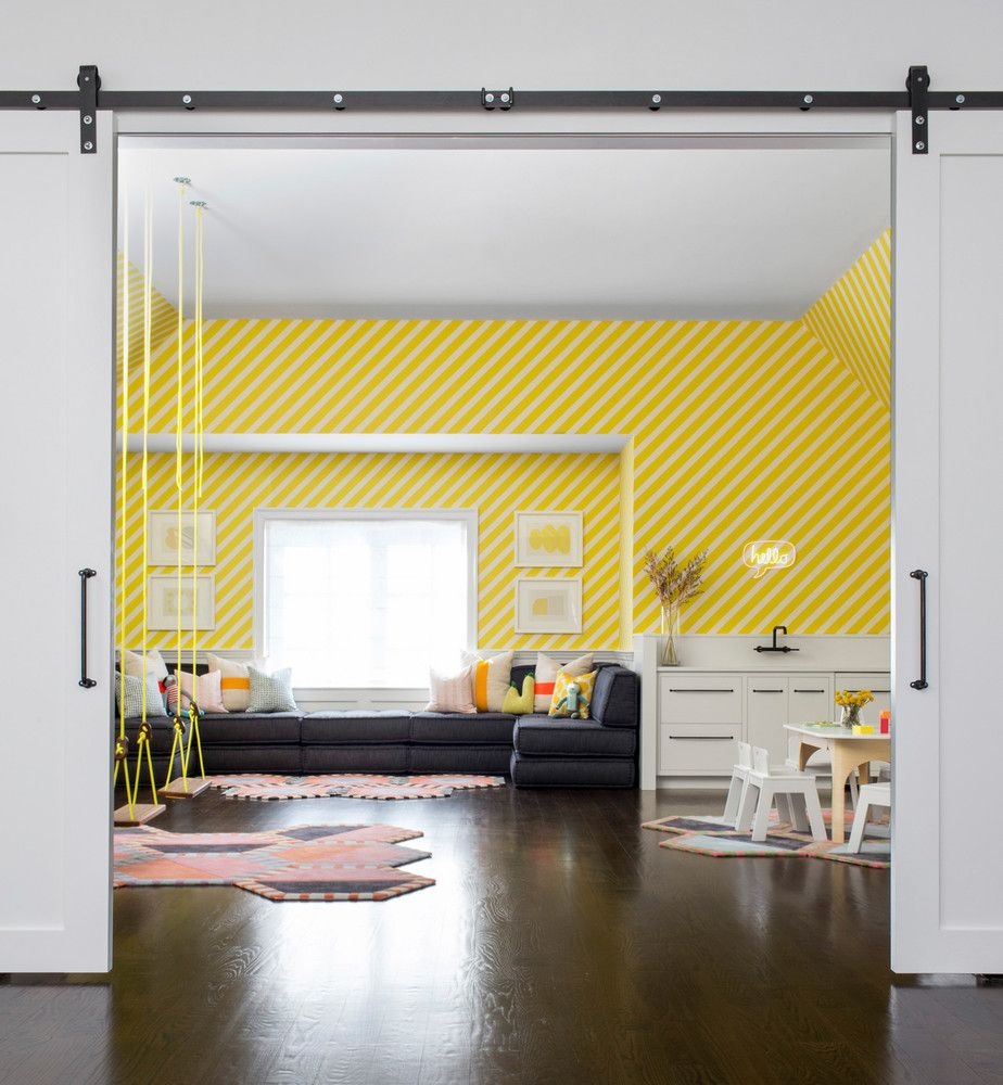 A Family That Uses Their Home as an Art Gallery | Colorful playroom ...