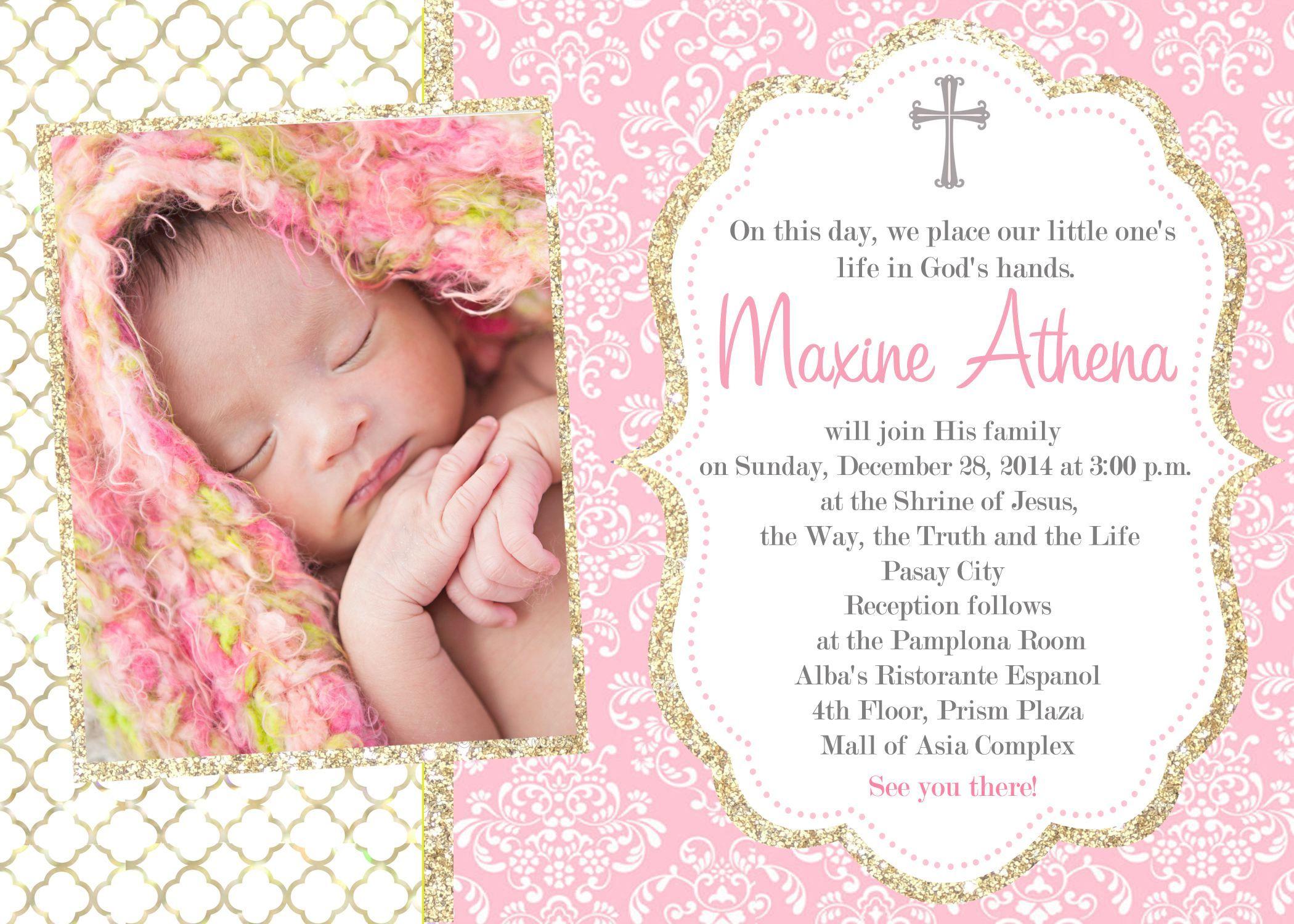 spanish-wording-for-baptism-invitations | Baptism invitations girl ...