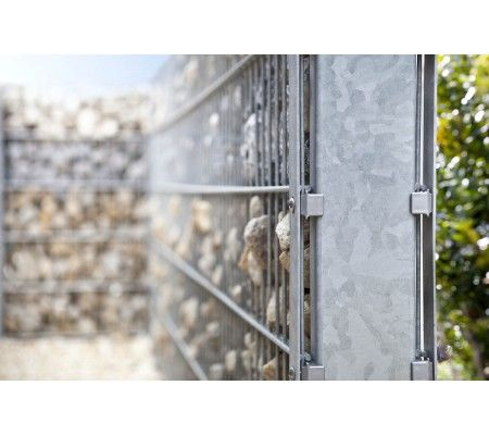 10 meter gabionen steinzaun komplett inkl pfosten zum einbetonieren zaun pinterest zaun. Black Bedroom Furniture Sets. Home Design Ideas