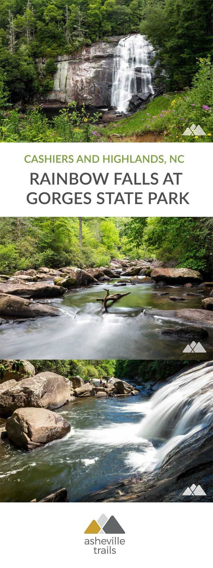 Rainbow Falls NC: hiking Gorges State Park