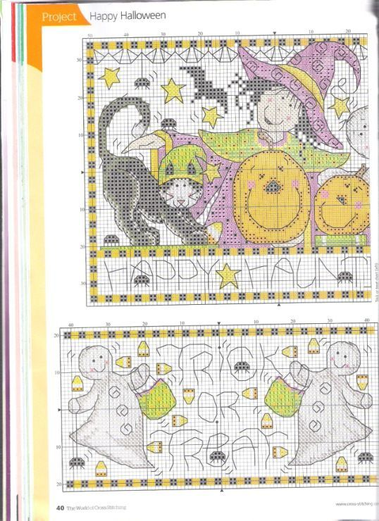 Pin by Deb Sartain on Halloween and Fall Cross Stitch | Pinterest ...