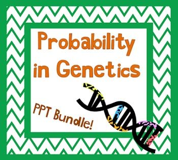 Genes and Probability PPT w/ Guided Notes and Punnett Square ...