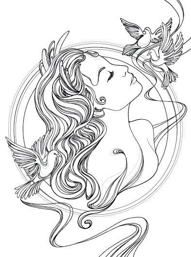 Aphrodite Drawing In Color Easy