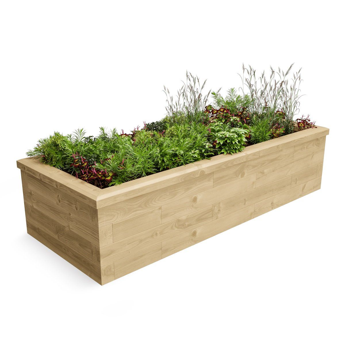 Slim Raised Bed, woodblox connecting beds | Garden and landscape ...