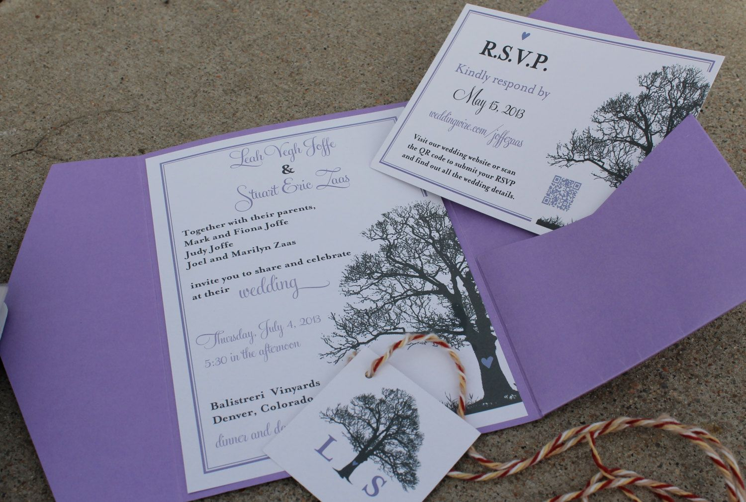 Tree Theme Wedding Invitation Rsvp Card By Lovelylittleparty 36 00