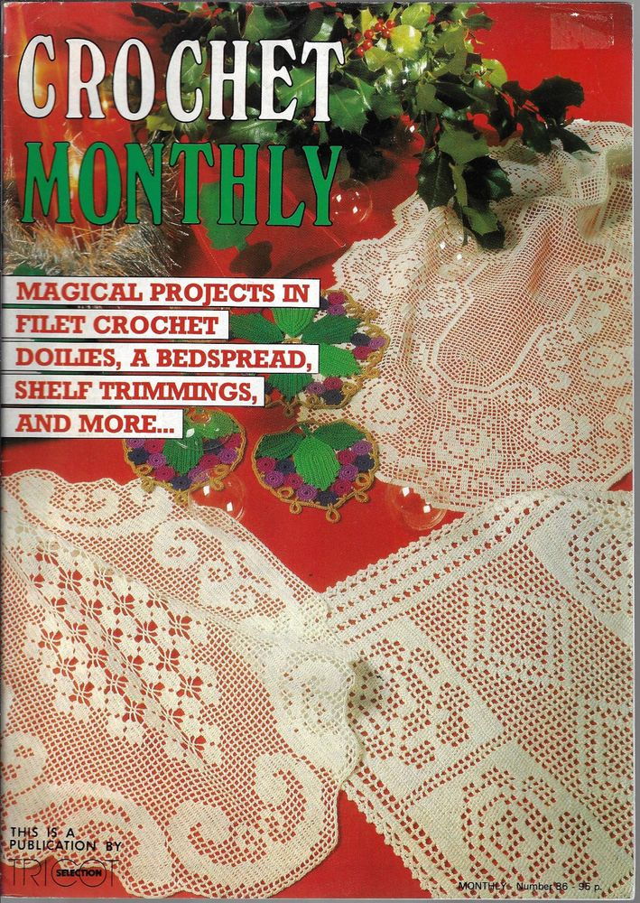 Crochet Monthly Magazine 86 Doily Table Mat Cloth Edgings Cushion