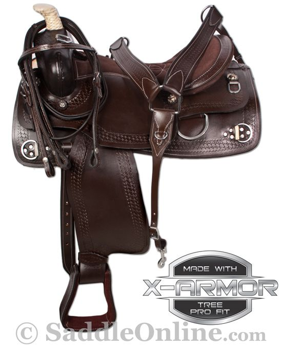 Western Trail Training Ranch Work Horse Saddle Tack 16 18