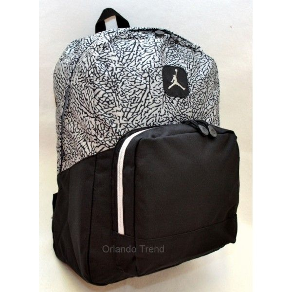 aff84e1fac66 Nike Air Jordan Black and Gray Backpack 9A1347-000 at OrlandoTrend.com