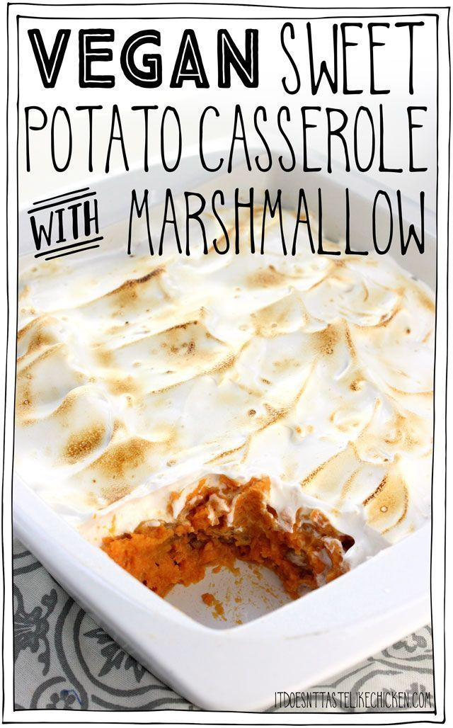 Vegan Sweet Potato Casserole with Marshmallow
