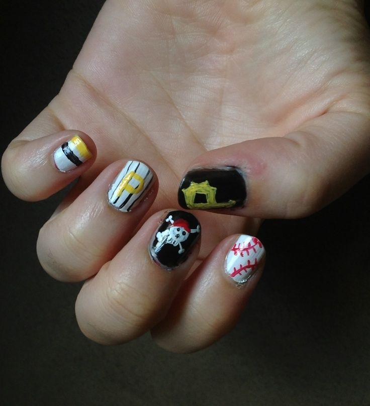 Pittsburgh pirate nails pittsburgh pirates nail art hair pittsburgh pirate nails pittsburgh pirates nail art hair nails and make prinsesfo Choice Image
