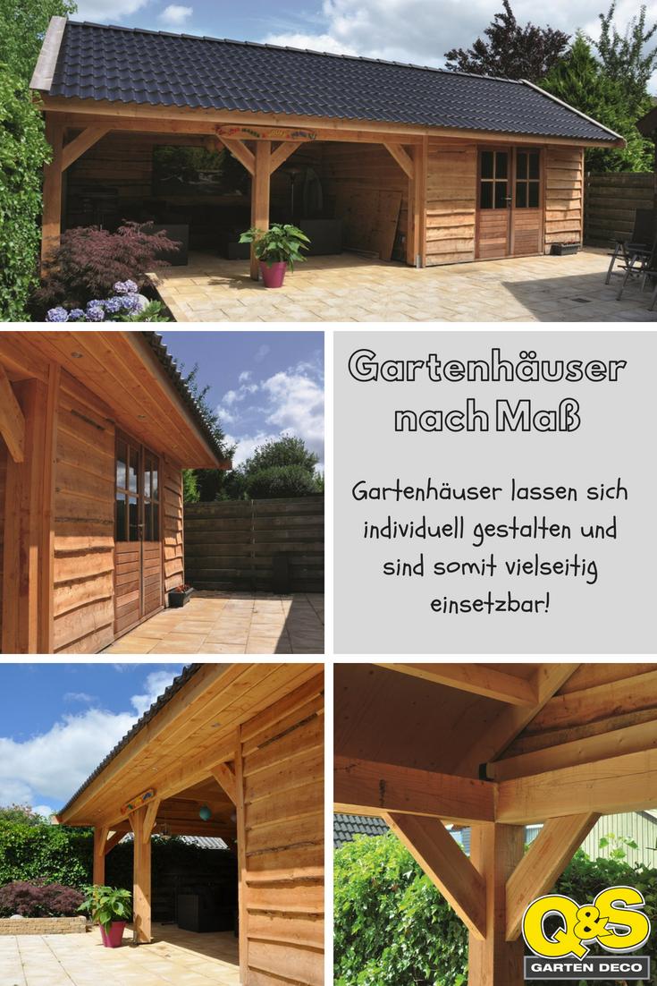 Gartenhaus Charlotta mit Vordach 700 x 300 x 217 cm