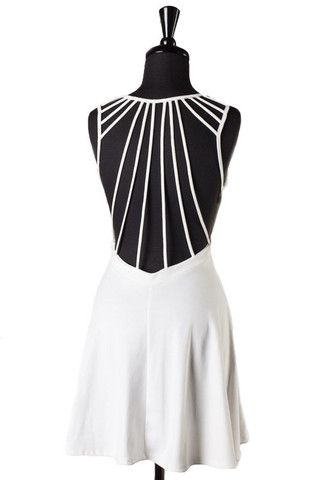 Ray Of Light Open Back Dress - White - $47.00 | Daily Chic Dresses | International Shipping