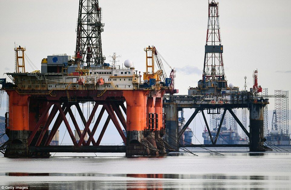 Oil rigs continue to be stacked up in Scotland since