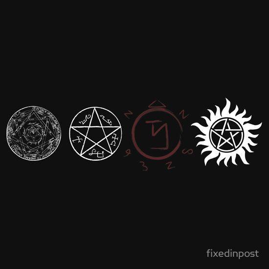 Supernatural Protection Light Symbols Unisex T Shirt