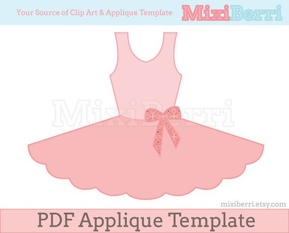 pin the tutu on the ballerina template - ballet tutu dress applique pattern pdf applique template