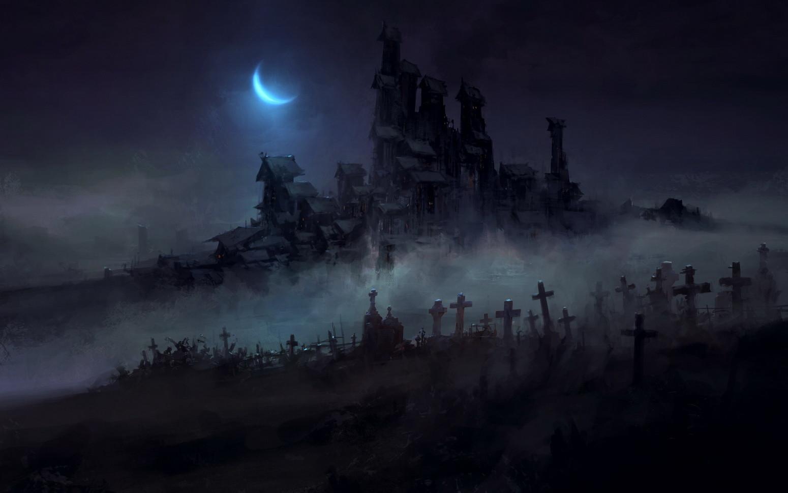 Artstation Dark Town Chris Cold In 2019 Fantasy Town