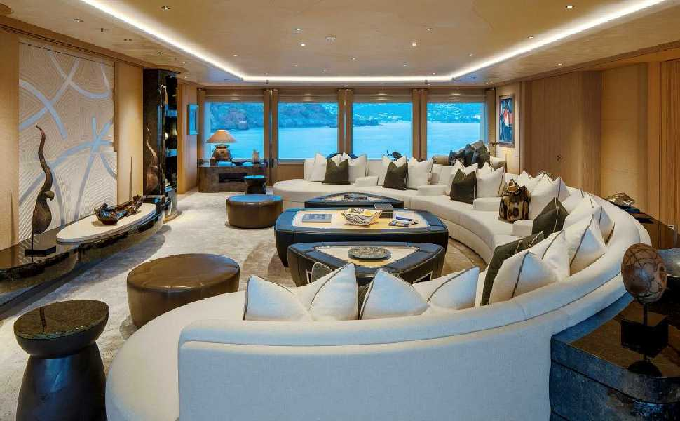 Arthur Blank Net Worth 5 Billion Inside The Crazy 180m Dreamboat Yacht In 2020 Yacht Yacht Interior Home Improvement Companies
