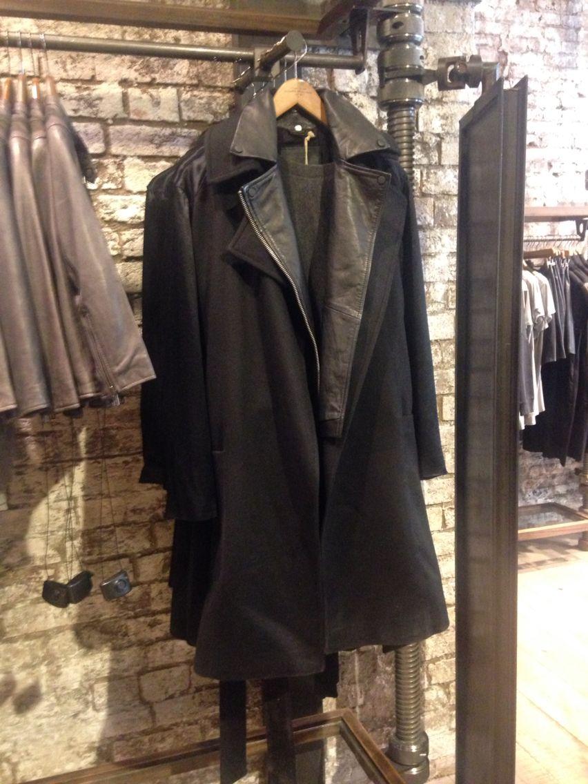 Miya Coat & Ayers Leather Biker in black for women AW14