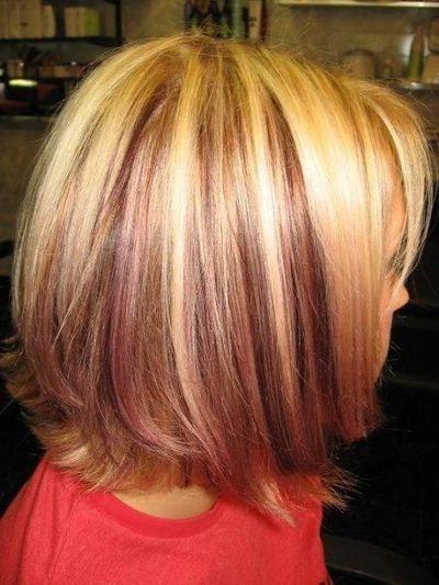 Enjoyable Light Blonde Hair With Lowlightsplatinum Highlights With Red Short Hairstyles Gunalazisus