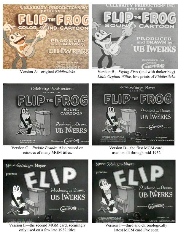 title | order Frog Flip  chronological cards Vintage in the