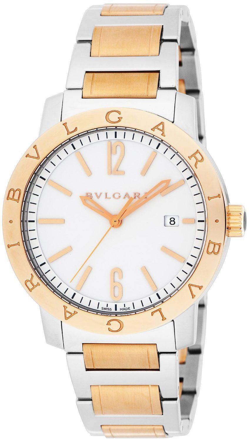 Bvlgari white dial automatic winding kpg stainless steel case