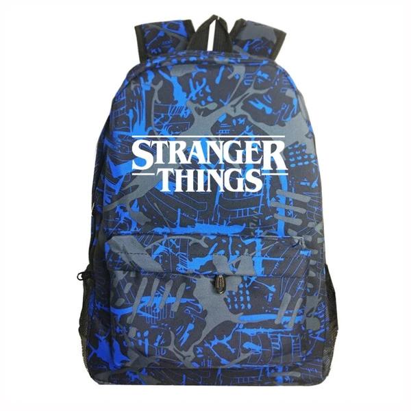 Stranger Things School Bag Galaxy Backpack Student Laptop Rucksack Kids Gift