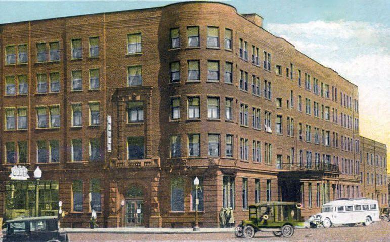Building Broadway Albert Lea Mn Hotel Minnesota 1931