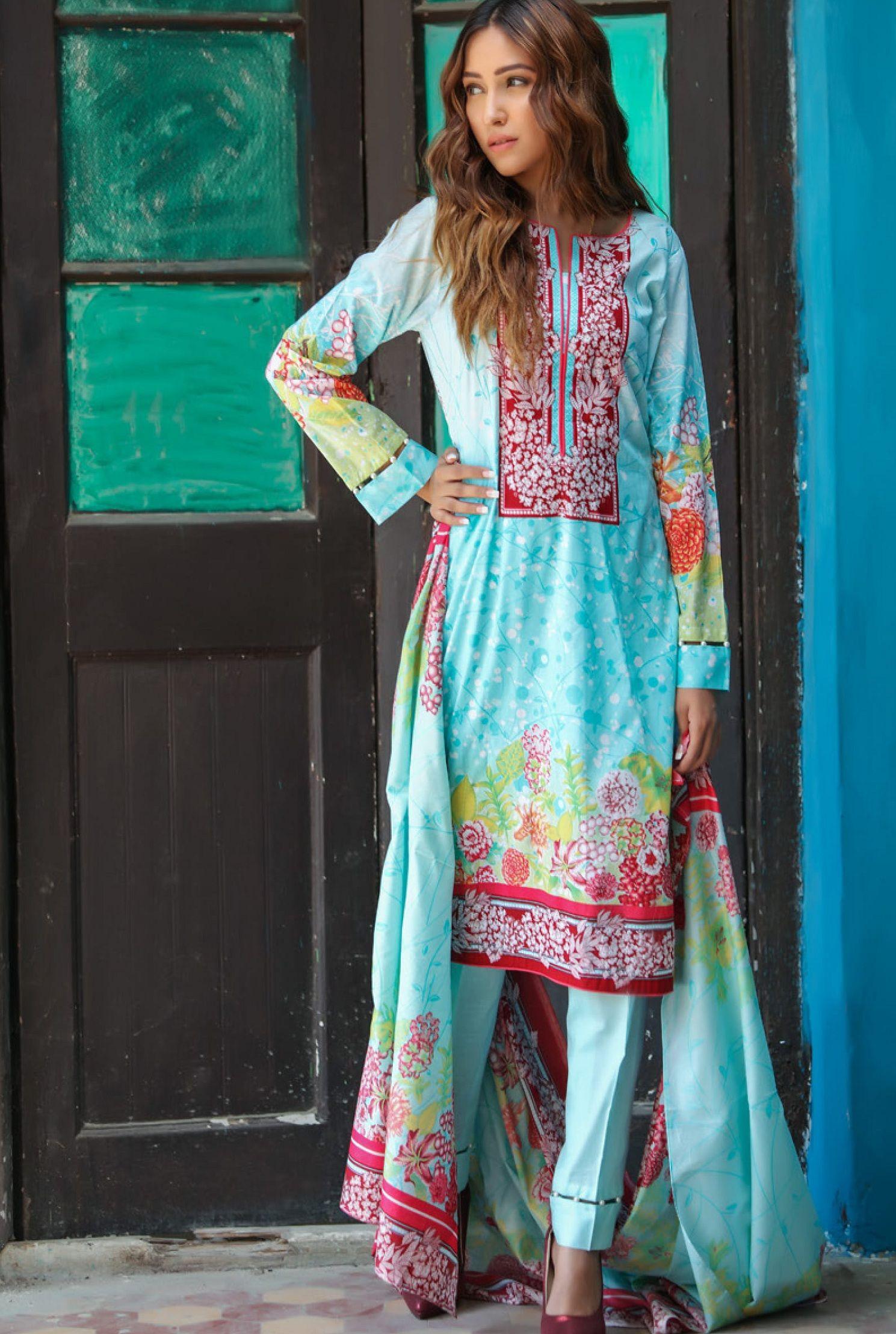 b44c94dcab Riwaz Printed Lawn Collection Original Pakistani Suits 5b ...