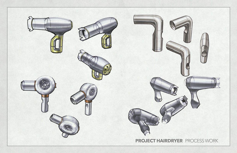 Hair Dryer Concept Sketches On Behance Best Affordable Hair Dryer Hair Dryer Brands Best Professional Hair Dryer