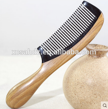 Salon Accessories Long Handle Black Horn Tooth Comb Buy Factory