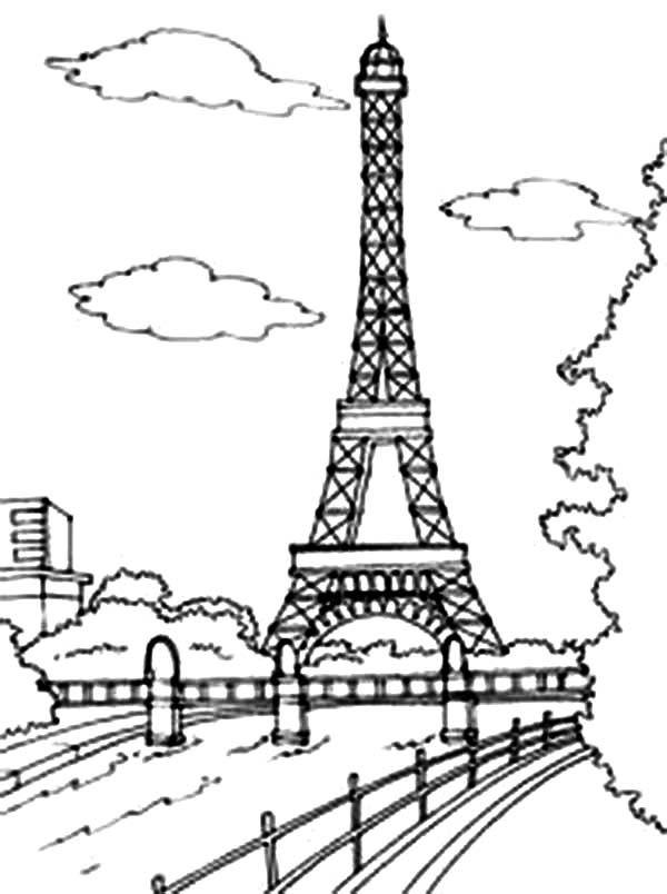 Eiffel Tower Coloring Pages 360coloringpages Eiffel Tower