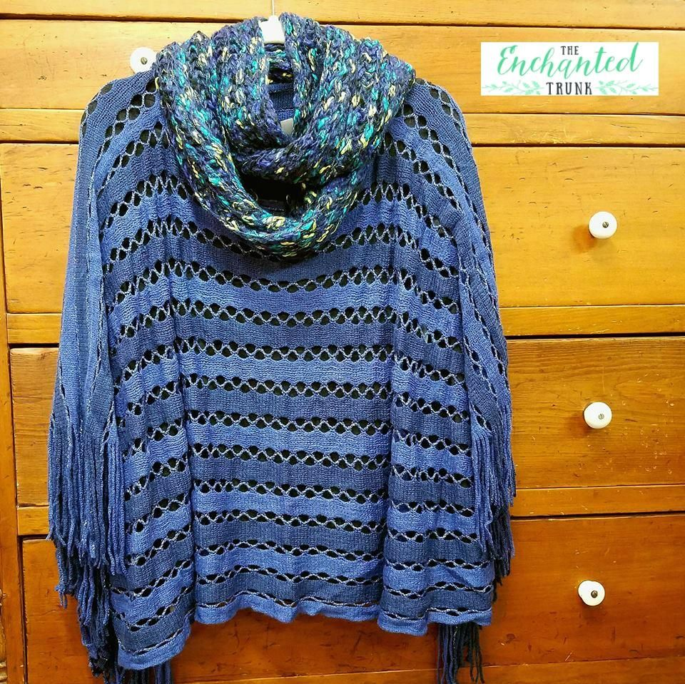 City of lights poncho one size poncho knitted poncho