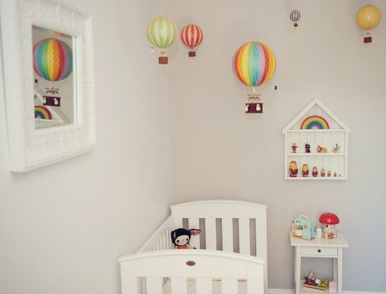 Rainbow Vintage Hot Air Balloon Large Hot Air Balloon Nursery Decor Hot Air Balloon Nursery Vintage Hot Air Balloon