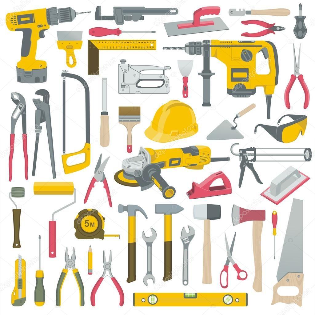 Conjunto de vectores de herramientas de construcción