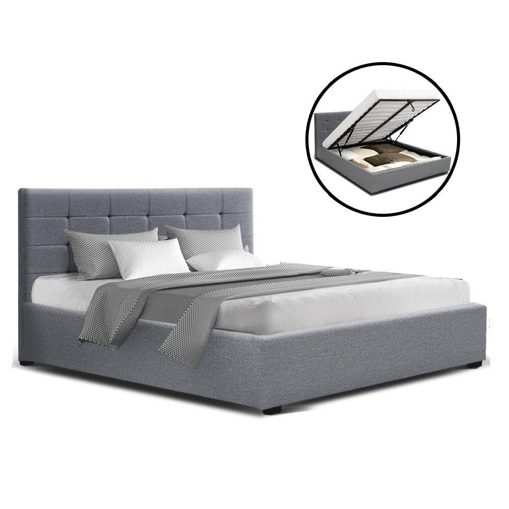 Geneva Grey Gas Lift Storage Bed Frame Online Only Matt Blatt