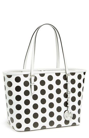 3559f2d3c43c MICHAEL Michael Kors 'Small Jet Set' Saffiano Leather Travel Tote available  at #Nordstrom