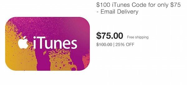 HOT! $100 iTunes Gift Card Only $75 On Ebay! – Email