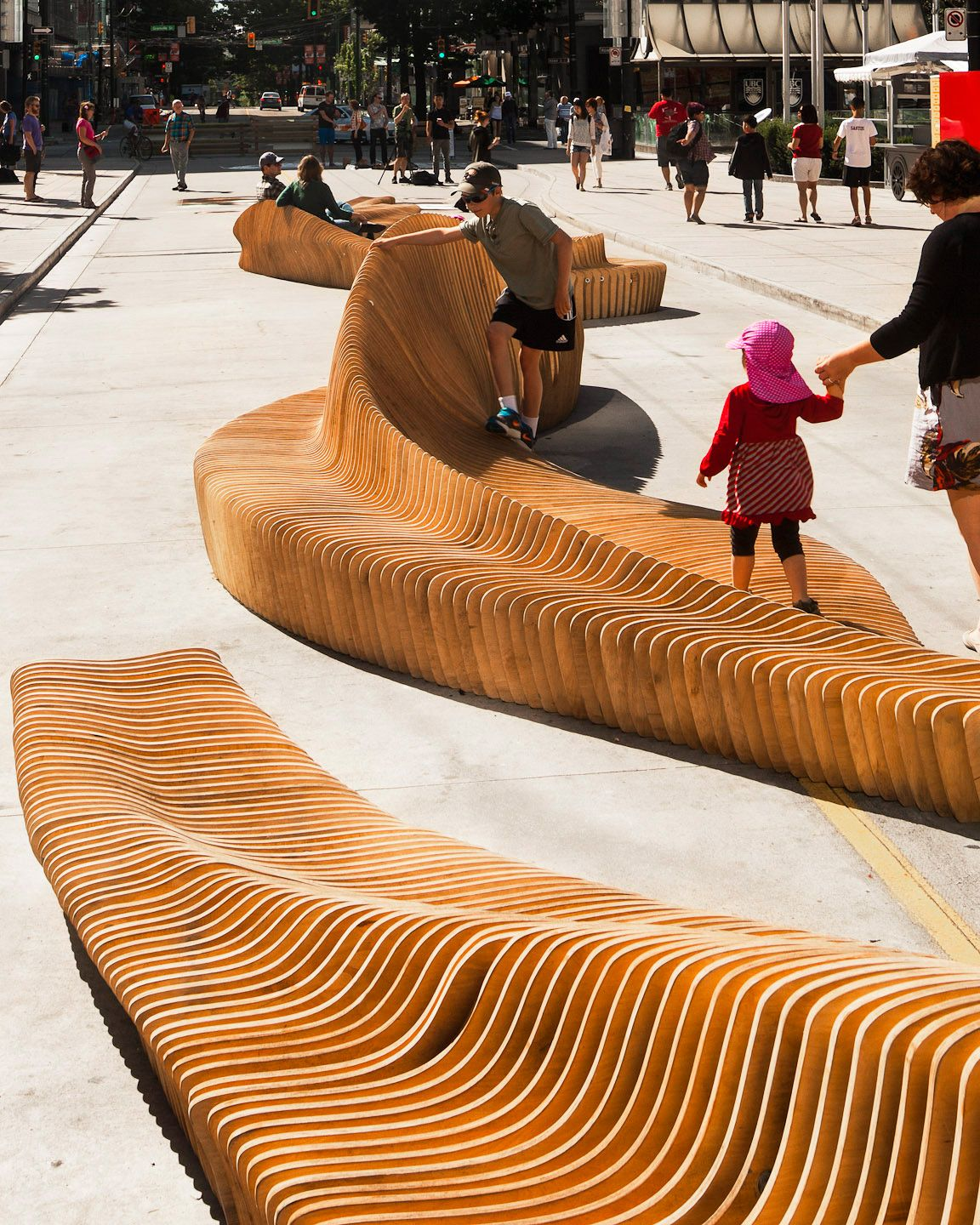 """Outdoor Patio Furniture Vancouver: """"Urban Reef"""" Wins Robson Redux 2014 In Downtown Vancouver"""