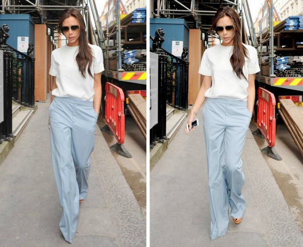 Victoria Beckham in Chloe pants!