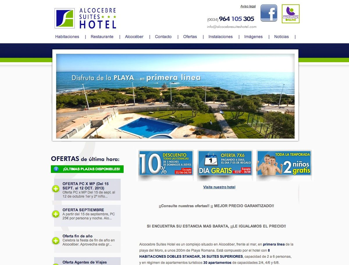 Alcocebre Suites Hotel: www.alcocebresuiteshotel.com #web #turismo