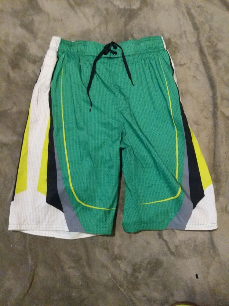 e2a647b63e Mens Nike Swim Trunks In Green/White/Yellow Size Small #fashion #clothing # shoes #accessories #mensclothing #swimwear (ebay link)